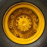 Yellow Auto Rim Royalty Free Stock Photos