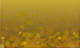 Yellow autumn background. Background autumn yellow leaf vector nature Royalty Free Stock Photos