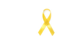 Yellow awareness ribbon. Bone cancer, Health care concept royalty free stock images