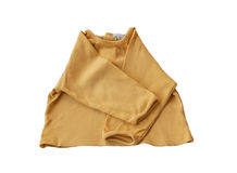 Yellow baby jacket on white background Royalty Free Stock Photo