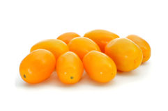 Yellow baby plum tomatoes Royalty Free Stock Images