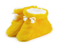 Yellow baby shoes Stock Photography
