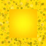 Yellow bacground with circles, space for text Stock Image