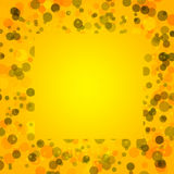 Yellow bacground with circles, space for text Royalty Free Stock Images