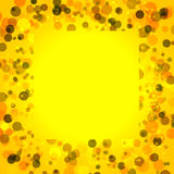 Yellow bacground with circles, space for text Royalty Free Stock Photos