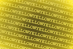Yellow background. Illustrated background with the words and color yellow.  To be a series with other colors Stock Photo