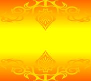 Yellow background. Yellow and orange background with ornaments and place for your text Stock Images