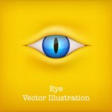 Yellow Background with animal eye. Vector Royalty Free Stock Photo