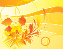 Yellow background with autumn bouquet Stock Photo