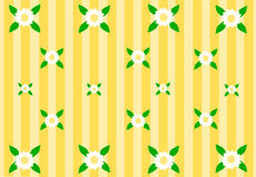 Yellow background with beautiful flowers Royalty Free Stock Images