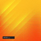 Yellow background with circular halftone effect. Vector Royalty Free Stock Photography