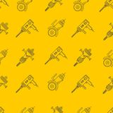 Yellow background for construction tools Royalty Free Stock Photos