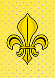 Yellow background fleur de Lys Royalty Free Stock Photos
