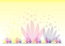 Yellow background with flowers 2 Stock Images