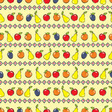 Yellow background with fruits Stock Photo