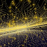 Yellow background galaxy Stock Photo