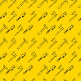 Yellow background for hand tools Royalty Free Stock Images