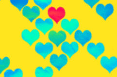 Yellow background with  hearts Royalty Free Stock Photos
