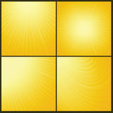 Yellow background. Illustration with abstract yellow background. Graphic Design Useful For Your Design. Rays background texture design on border. Sun background stock illustration