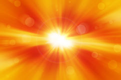 Yellow background with lens flare. Yellow background with warm sun and lens flare Stock Photo