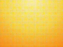 Yellow background with polka dots and rings Stock Photography