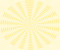 Yellow background, rays pattern. Yellow background, rays in stripes from center. Pastel colors Royalty Free Stock Photo