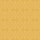 Yellow background with seamless pattern. Ideal for printing. Onto fabric and paper or scrap booking. Vector illustration Stock Images