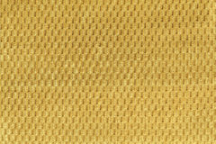Yellow background from soft fleecy fabric close up. Texture of textiles macro Royalty Free Stock Image