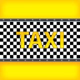 Yellow background with taxi pattern Stock Photo