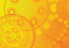 Yellow background texture. Royalty Free Stock Photography