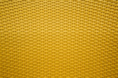 Yellow background texture of basketwork. Royalty Free Stock Photos