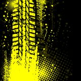 Yellow background tire track Stock Photos
