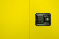 Yellow background with tooling box Royalty Free Stock Images