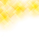Yellow background with transparent shapes Royalty Free Stock Photography