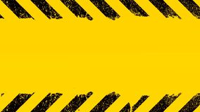 Yellow background with under construction sign stock footage