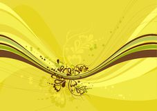 Yellow background, vector Royalty Free Stock Images
