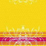 Yellow background, vector Stock Photo