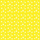 Yellow background white drops balls circles abstract pattern vector illustration