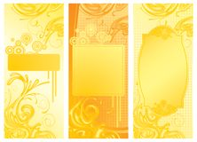Yellow backgrounds. Raster version of three vector yellow backgrounds There is in addition a vector format (EPS 8 stock illustration