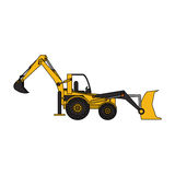 Yellow backhoe icon image Stock Photo