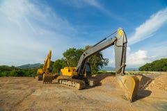 Yellow Backhoe photo Stock Image