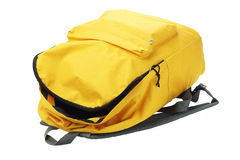 Yellow Backpack Stock Photo