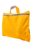 Yellow bag on a white background Royalty Free Stock Images