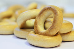 Yellow bagels Stock Image