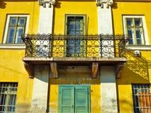 Yellow, Balcony, Town, Architecture stock photos