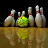 Yellow ball does strike! Royalty Free Stock Image