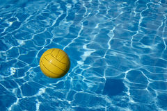 Yellow ball in the pool Stock Image