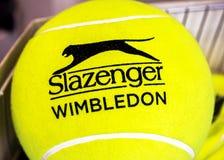 Yellow Ball of Wimbledon Royalty Free Stock Photography