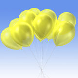 Yellow balloon. 3d rendering of group of yellow  color balloon Royalty Free Stock Photo