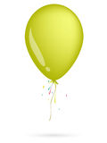 Yellow balloon. On the white background Stock Photo